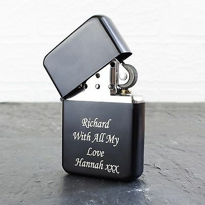 Personalised Engraved Lighter- Available in Red, Blue, Silver,Black & Rainbow