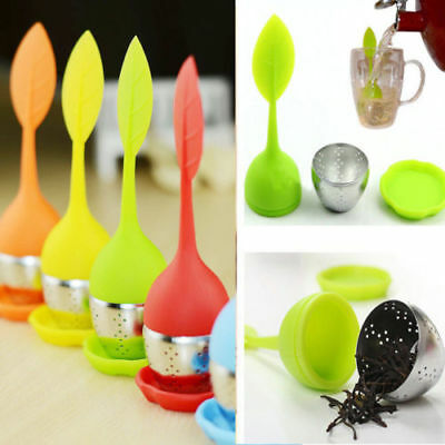 HOT Silicone & Stainless Steel Leaf Tea Strainer Herbal Spice Infuser Tea Filte