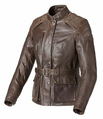 Triumph Beaufort Ladies Brown Leather Motorcycle Jacket NEW RRP £300.00