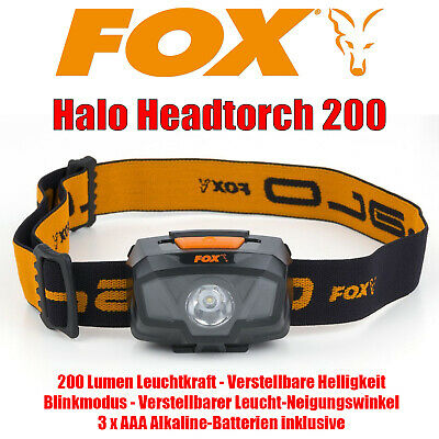 Fox Halo Headtorch 200 Kopflampe 200 Lumen LED Lampe - CEI161 [F108] NEU