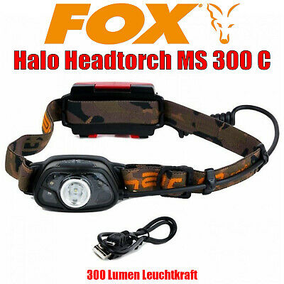 Fox Halo Headtorch MS 300 C Kopflampe 300 Lumen LED Lampe  - CEI163 [F108] NEU