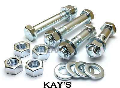 M12 Part Threaded Bolts + Full Nuts + Washers High Tensile 8.8 Zinc Plated Hex