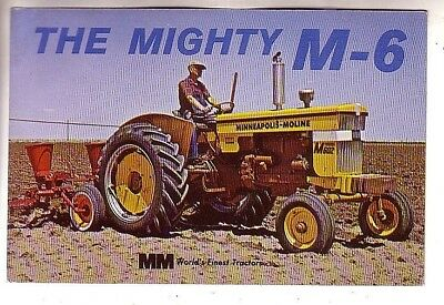 1950's POSTCARD-MINNEAPOLIS MOLINE MIGHTY M-6 TRACTOR