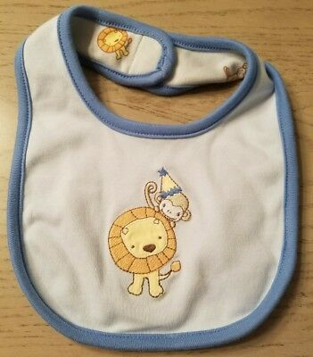 Gymboree BRAND NEW BABY Reversible Birthday Lion & Monkey Bib NWT Boys