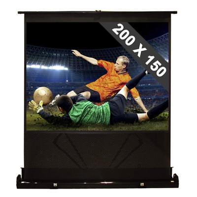 MOBILE HDTV KOFFERLEINWAND 200 x 150CM 16:9 VIDEO HEIMKINO OHP BEAMER LEINWAND