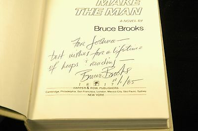 Signed The Moves Make the Man - Bruce Brooks HarperCollins Hardcover Book