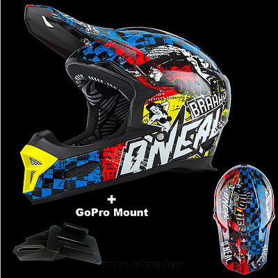 hp7 Lunettes MTB DH alpin Casque GO PRO Support O /'Neal 19 Fury RL Hybride NEON