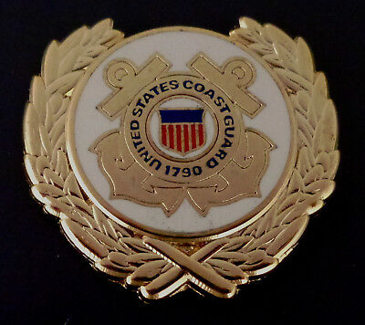 U. S. COAST GUARD GOLD WREATH logo Lapel Pin USCG crossed anchors United States