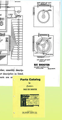 Dale Six Shooter Exhibit Supply Parts Manual  & Schemat