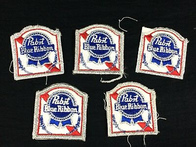 5 Pabst Blue Ribbon Beer Patches Old Stock PBR