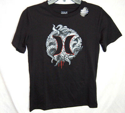 Hurley Logo Shirt Snake Boys Black Size Small Medium Large New Preimium Cotton