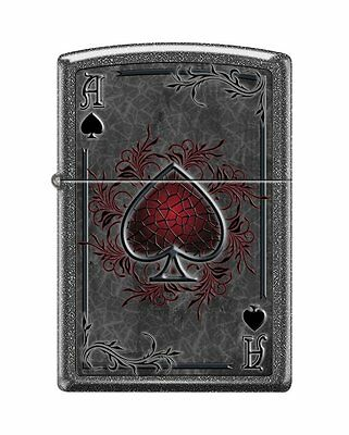Zippo 0604, Ace of Spades, Iron Stone Finish Lighter, Full Size