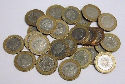 Lot of 25 Circulated British Two Pounds