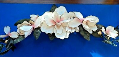 """Floral Swag 30"""" long Vintage Home Interiors  - very good condition"""