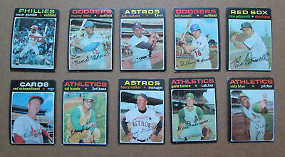 VINTAGE 1971 TOPPS BASEBALL LOT OF OVER 400 + CARDS INCLUDING HIGH #'s RARE