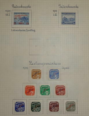SLOVAKIA - 1939-1945 COLLECTION NAZI GERMANY OCCUPATION on 19 SHEETS - *MH*/used