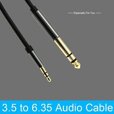 "1.5m 3.5mm Track Gold Plated Audio Cable 1/8"" Male To 6.35mm 1/4"" Male Stereo"