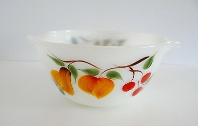 Anchor Hocking Fire King Ware Fruit Bowl Handles Vintage USA