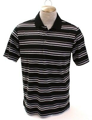 Adidas Golf Puremotion Black & White Short Sleeve Polo Shirt Men's NWT