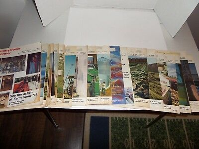 Lot of 21 Vintage Pennsylvania Farmer Magazines-1976