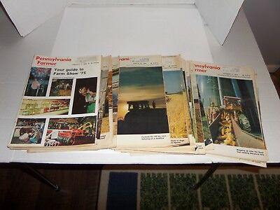 Lot of 21 Vintage Pennsylvania Farmer Magazines-1975