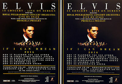 ELVIS PRESLEY - IF I CAN DREAM 2016 FLYERS x 4