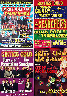 Gerry And The Pacemakers - 4 Different Flyers