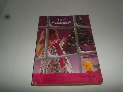 Vintage Sears 1974 Christmas Season Wish Book Catalog