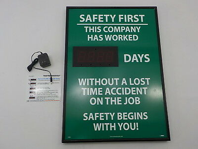 "NMC DSB2 - Digital ""Days Without A Lost Time Accident On The Job"" Scoreboard"