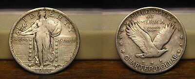 1918-S Standing Liberty Quarter 1918S  Us Coin