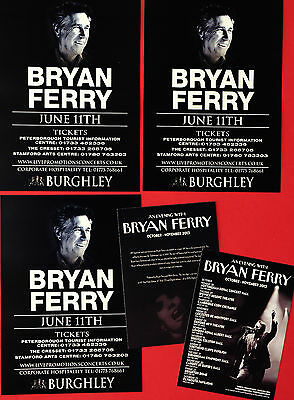 5 X Bryan Ferry Flyers - Burghley House Stamford 2016 Concert  & 2013 Uk Tour