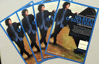 4 X Gilbert O'sullivan A Singer And His Songs Tour Flyers