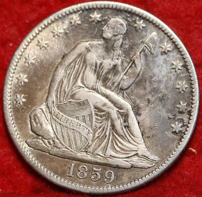 1859-O New Orleans Mint Silver Seated Liberty Half Dollar