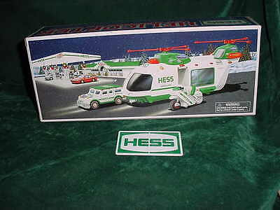 Christmas Xmas Holiday Gift 2001 Hess Toy Truck Trucks  Helicopter  Mib Toys