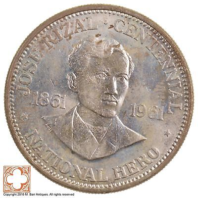 1961 Philippines Silver One Peso *7372