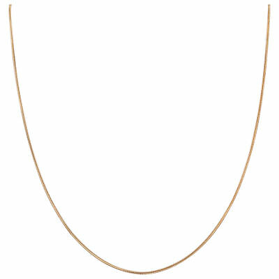 14k Rose Gold over Sterling Silver Vermeil 1mm Snake Chain Necklace