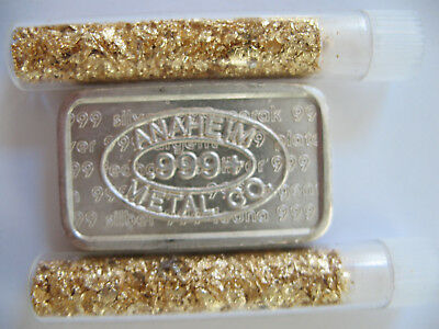1-Oz. Anaheim Logo On Front .999 Pure Silver 1981 Usvi /a-Mark Chunky Ingot+Gold