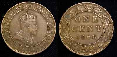 CANADA 1908 Large Cent XF