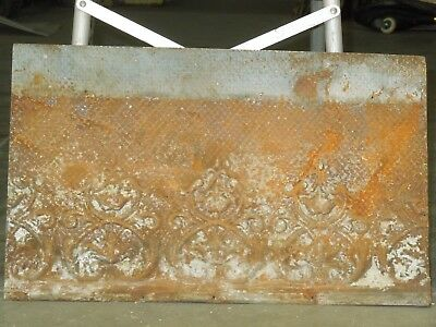 "Old Antique ( Metal )  tin ceiling tile  24""x 15"""