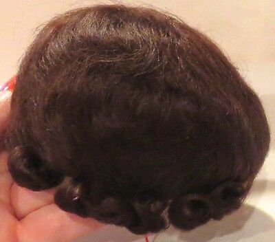 "8"" Med Brown Pure Mohair Wig ""Baby Love"" New w/Tag for Reborn or Baby Dolls"