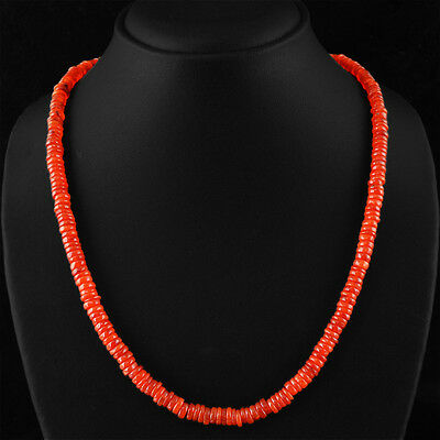 Rare 195.00 Cts Natural Rich Orange Carnelian Round Untreated Beads Necklace