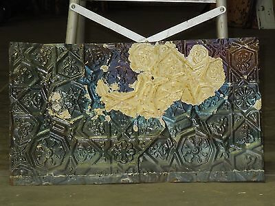 "Old Antique ( Metal )  tin ceiling tile tiles 24""x 14"" filler, backsplash?"