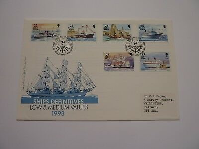 IOM Ships Definitive Issue 1993 FDC