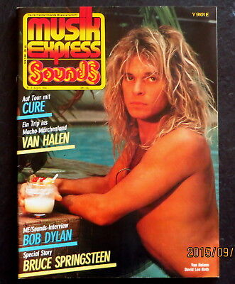 Musik Express Sounds 08/84 Cover:Van Halen;Story:Bruce Spingsteen;Cure,Bob Dylan