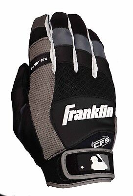 Franklin Batting Glove X-VENT PRO - ADULT - Baseball Handschuh - schwarz/weiß