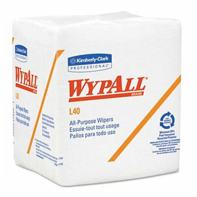 Kimberly Clark Wypall L40 Quarterfold All Purpose Wipers, 18 Packs
