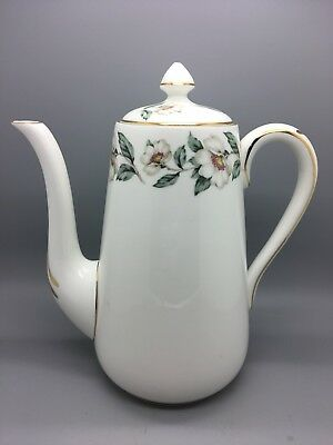 "Coffee pot - Crown Staffordshire ""Pear Blossom"" Fine Bone China"