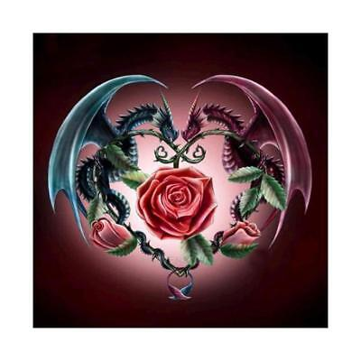 "Diamond Painting - Diamant Malerei - Stickerei - ""Drachen+Rose"" (982)"