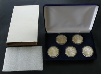 5 Pcs 1878-1921 Morgan Dollar Set AU/BU  CC, P, O, S, D