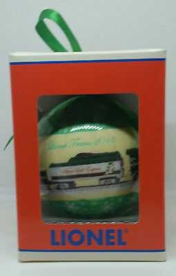 LIONEL TRAIN 2013 SILVER BELL EXPRESS CHRISTMAS ORNAMENT9-21015 NEW in orig box!
